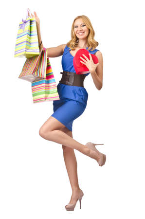 Happy girl after good shopping Stock Photo - 15251282