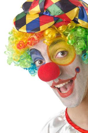 clown cirque: Clown sur le blanc