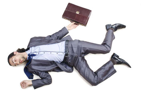 lying on the floor: Dead businessman on the floor