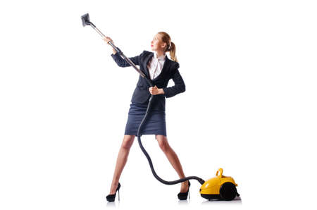 Woman cleaning with vacuum cleaner Stock Photo - 15531608