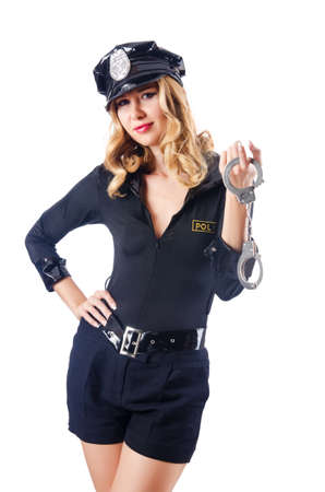 Woman police in the concept Stock Photo - 15440466