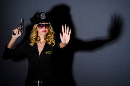 Woman police in the concept Stock Photo - 15531709