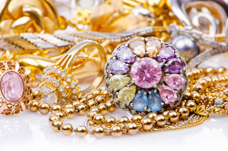 Large collection of gold jewellery Stock Photo - 15531713