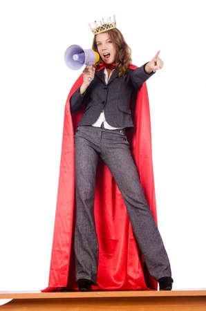 superwoman: Empresaria en concepto superwoman
