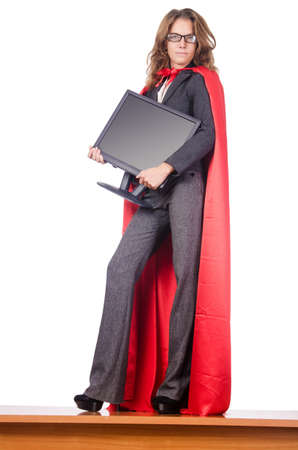 Businesswoman in superwoman concept Stock Photo - 15582641