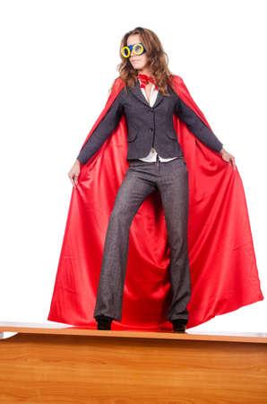 Businesswoman in superwoman concept Stock Photo - 15583065
