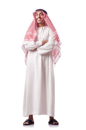 Arab man isolated on the white Stock Photo - 15668044
