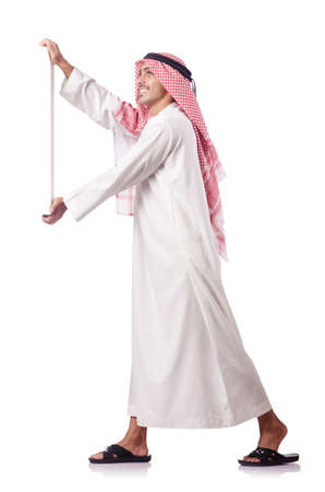 thoub: Arab man isolated on the white