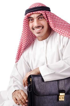Arab businessman isolated on white Stock Photo - 15784294