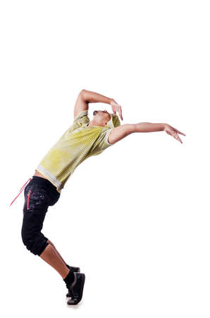 Muscular dancer isolated on white Stock Photo - 15567214
