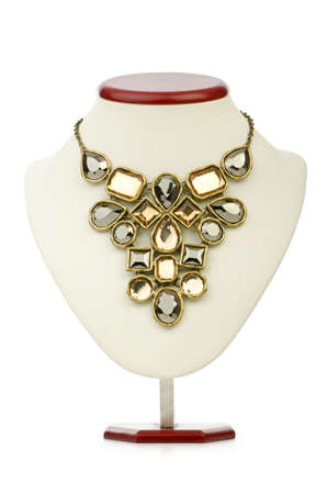 fashion jewelry: Necklace isolated on the white