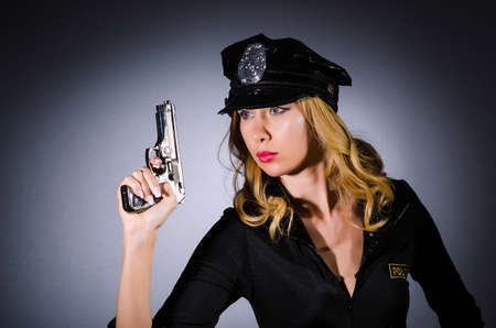 Woman police in the concept Stock Photo - 15549994