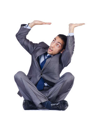 Businessman posing for conceptual photo photo