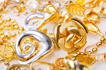 Large collection of gold jewellery  Stock Photo - 15538399