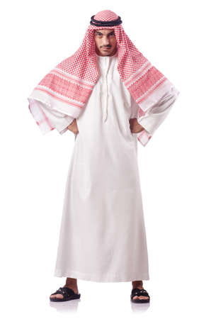 Arab man isolated on the white Stock Photo - 15557240