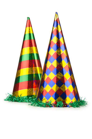 Party hat isolated on the white Stock Photo - 15551217