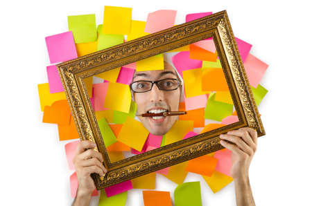 Man with  frame Stock Photo - 15582666