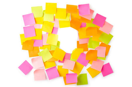 postit note: Many reminders isolated on the white