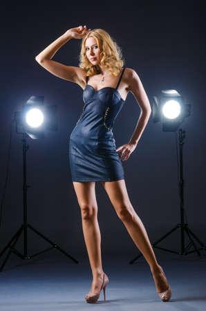 Attractive woman posing in photo studio Stock Photo - 15570847