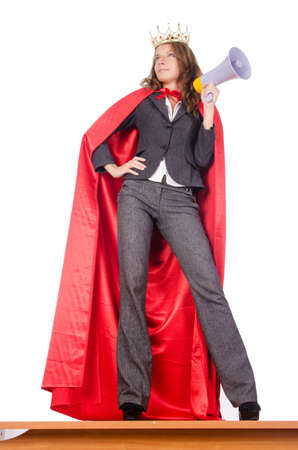 Businesswoman in superwoman concept Stock Photo - 15566375