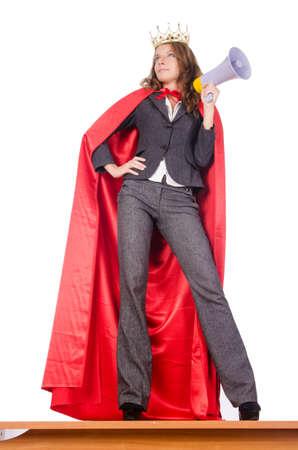 Businesswoman in superwoman concept Stock Photo - 15566375