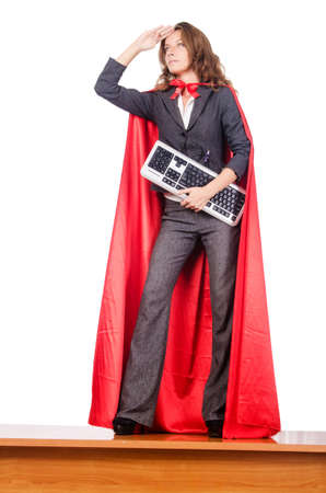 Businesswoman in superwoman concept Stock Photo - 15566371