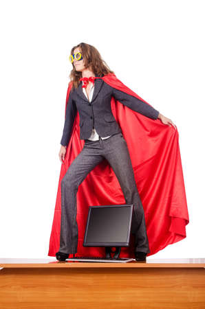 Businesswoman in superwoman concept Stock Photo - 15566379