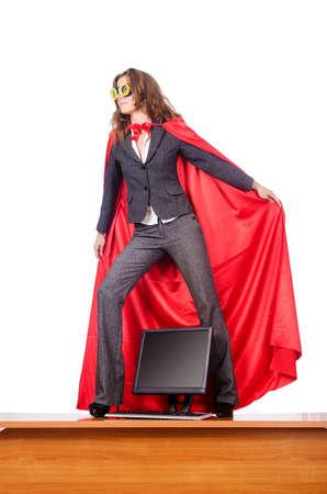 Businesswoman in superwoman concept Stock Photo - 15566379