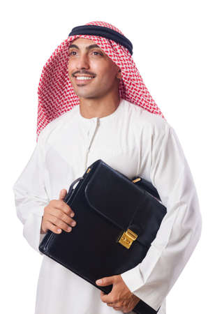 Young arab isolated on the white Stock Photo - 15566327