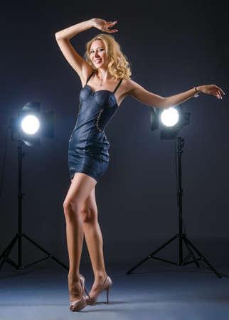 Attractive woman posing in photo studio Stock Photo - 15786245