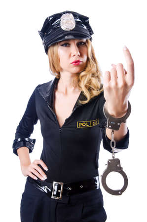 Woman police in the concept Stock Photo - 15766888