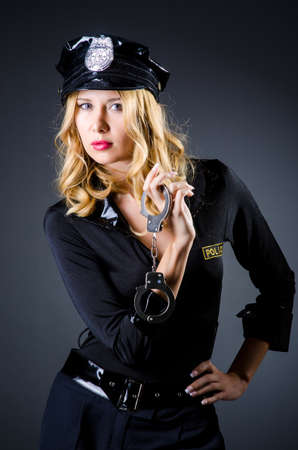 Woman police in the concept Stock Photo - 15786272
