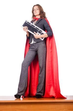 Businesswoman in superwoman concept Stock Photo - 15766992