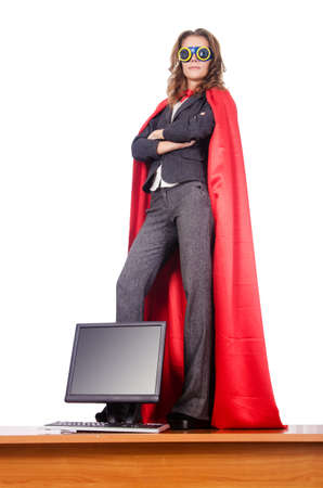Businesswoman in superwoman concept Stock Photo - 15766932