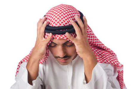 Young arab isolated on the white Stock Photo - 15766931