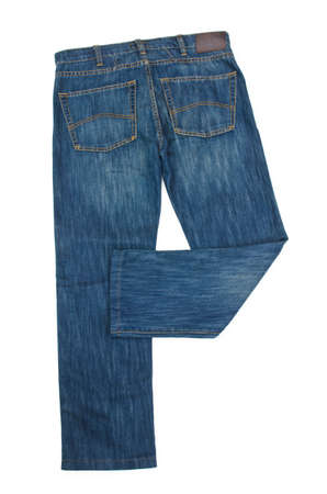 trousers: Pair of jeans isolated on the white