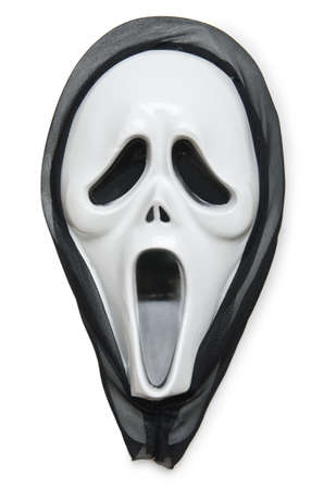 horrors: Horror mask isolated on the white