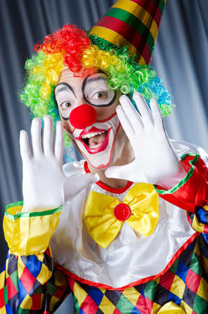 Funny clown in studio shooting Stock Photo