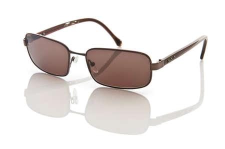 Stylish sunglasses isolated on the white Stock Photo
