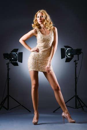 Attractive woman posing in photo studio Stock Photo - 15926673