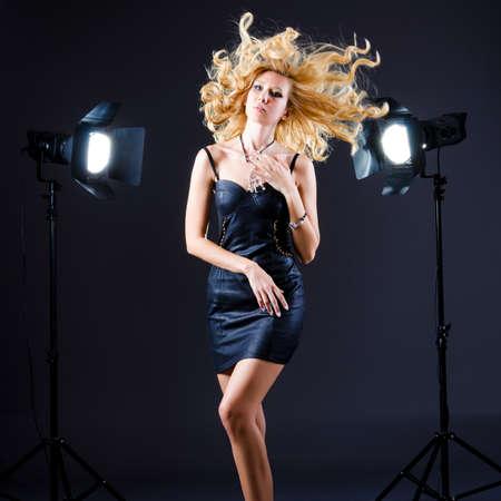 Attractive woman in studio shooting Stock Photo - 15926249