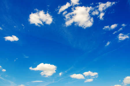 Bright blue sky in summer day Stock Photo - 15929024