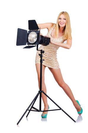Attrative woman in photo studio Stock Photo - 15924982