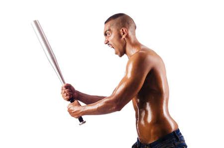Muscular man with baseball bat Stock Photo - 15924997
