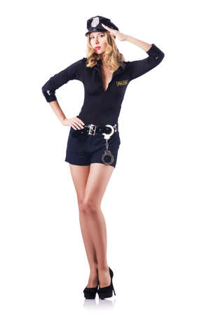 Young attractive woman police Stock Photo - 15924559