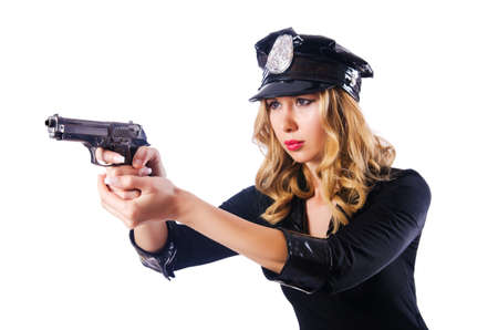 Young attractive woman police Stock Photo - 15925669