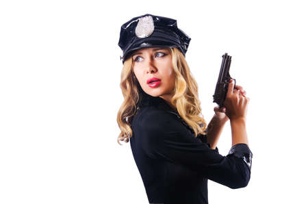 Young attractive woman police Stock Photo - 15925442