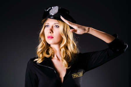 Young attractive woman police Stock Photo - 15926623