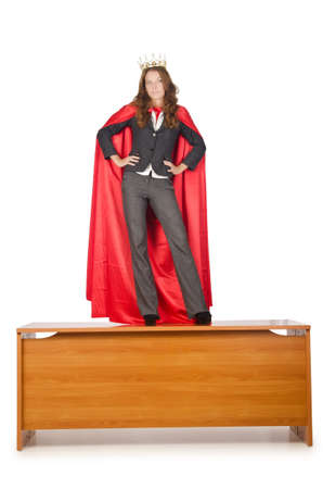 Queen businessman standing on the desk photo