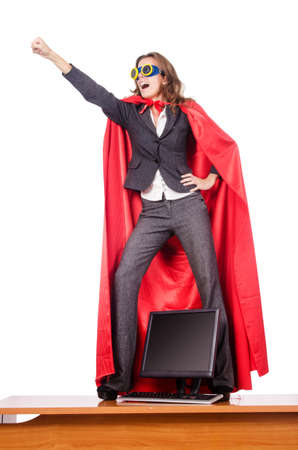 Businesswoman in superwoman concept Stock Photo - 15926462